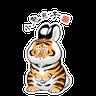 一切皆可胖虎 變裝貼圖 - Tray Sticker