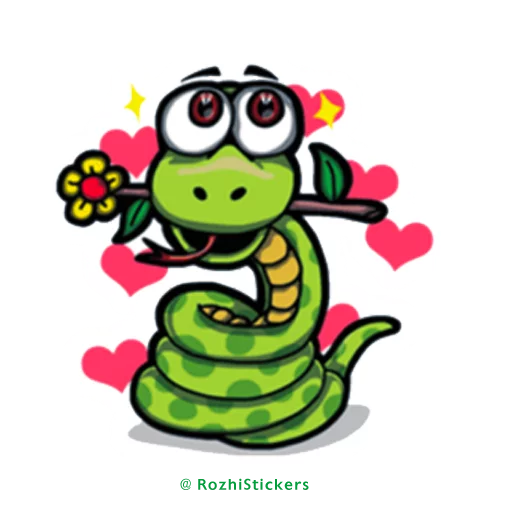 Snake - Tray Sticker