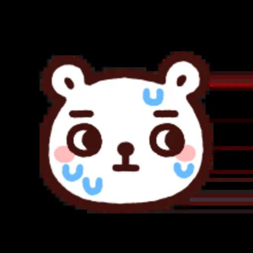白白日記OMG都是頭表情貼2 - Sticker 3