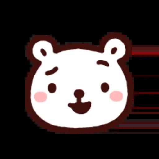 白白日記OMG都是頭表情貼2 - Sticker 2