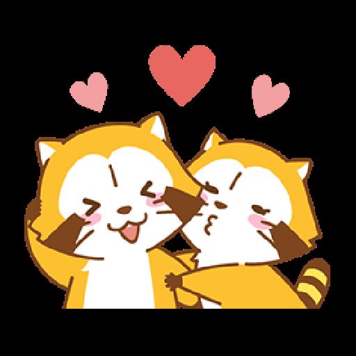 小浣熊(LOVE篇) #1 - Sticker 14