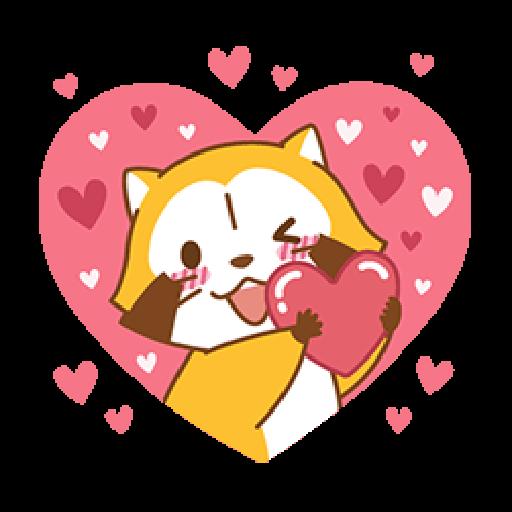 小浣熊(LOVE篇) #1 - Tray Sticker