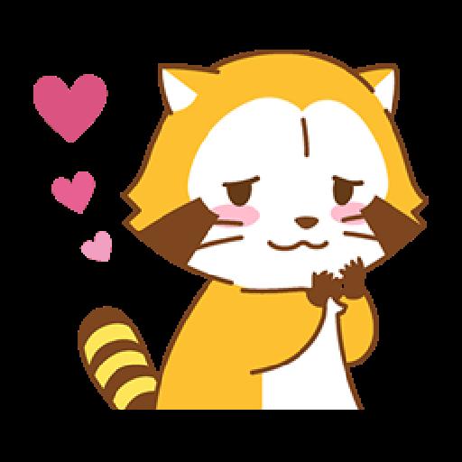 小浣熊(LOVE篇) #1 - Sticker 2
