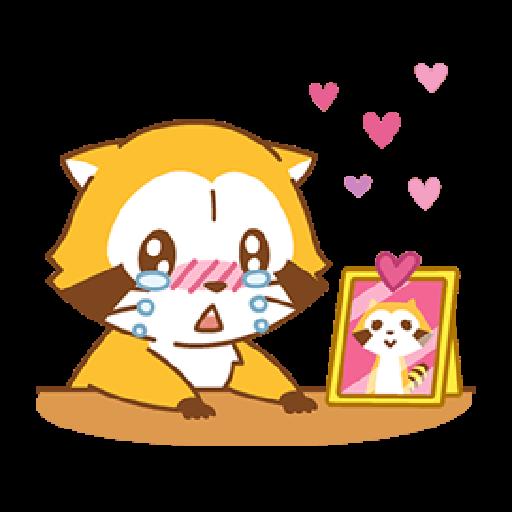 小浣熊(LOVE篇) #1 - Sticker 5