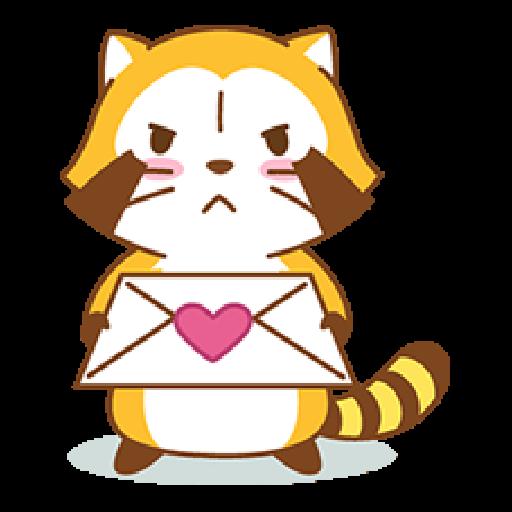 小浣熊(LOVE篇) #1 - Sticker 9