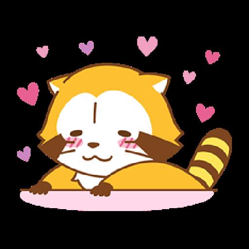 小浣熊(LOVE篇) #1 - Sticker 12