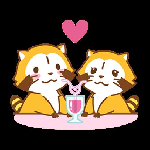 小浣熊(LOVE篇) #1 - Sticker 13