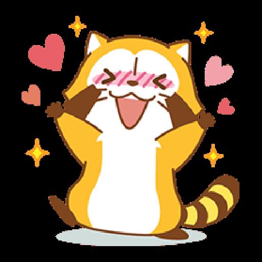 小浣熊(LOVE篇) #1 - Sticker 10