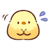 soft and cute chick 11 - Tray Sticker