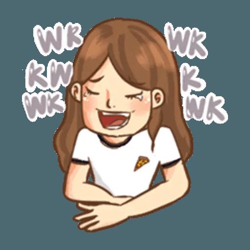 Cute girl - Tray Sticker