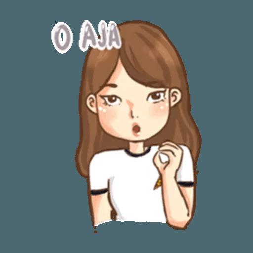 Cute girl - Sticker 21