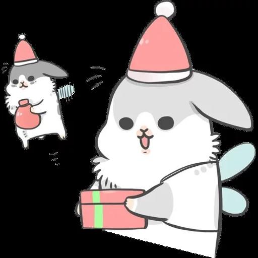 ㄇㄚˊ幾兔17 come, study ,禮物 - Sticker 25