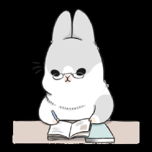 ㄇㄚˊ幾兔17 come, study ,禮物 - Sticker 18