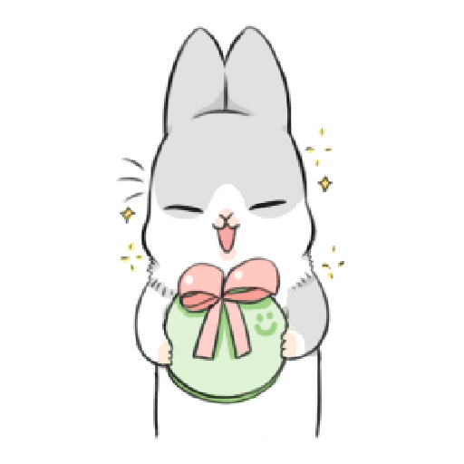 ㄇㄚˊ幾兔17 come, study ,禮物 - Sticker 29