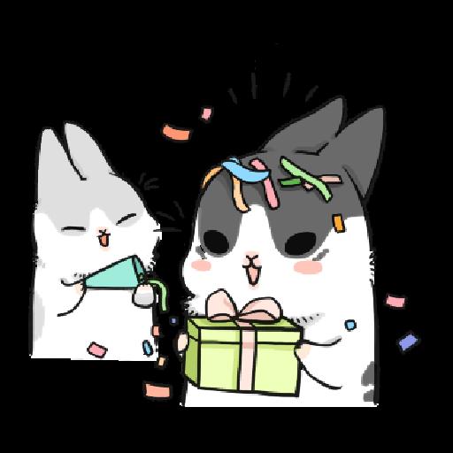 ㄇㄚˊ幾兔17 come, study ,禮物 - Sticker 24