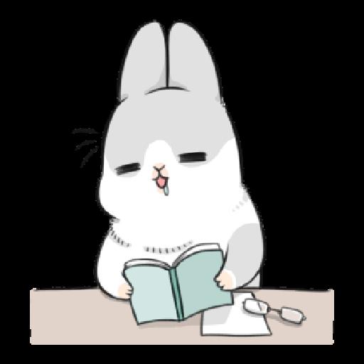 ㄇㄚˊ幾兔17 come, study ,禮物 - Sticker 20