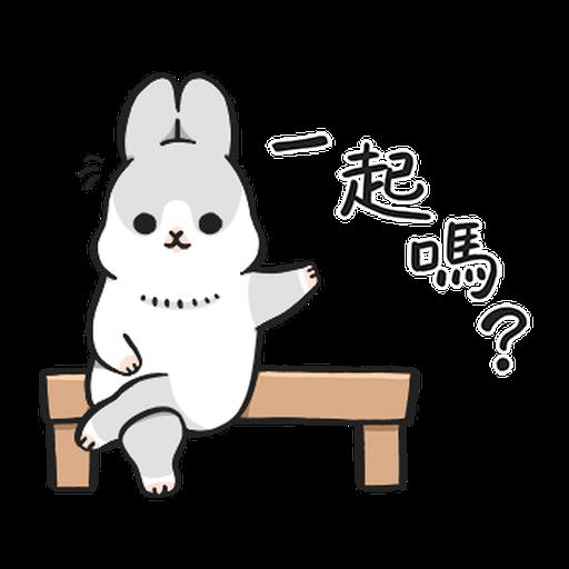 ㄇㄚˊ幾兔17 come, study ,禮物 - Sticker 2