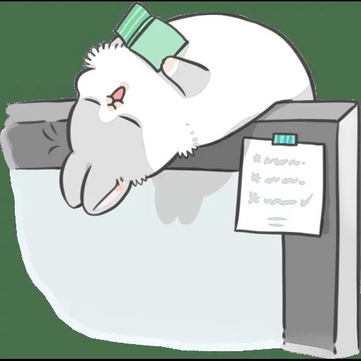 ㄇㄚˊ幾兔17 come, study ,禮物 - Sticker 19