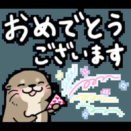 Otter's otter large sized letter - Sticker 6