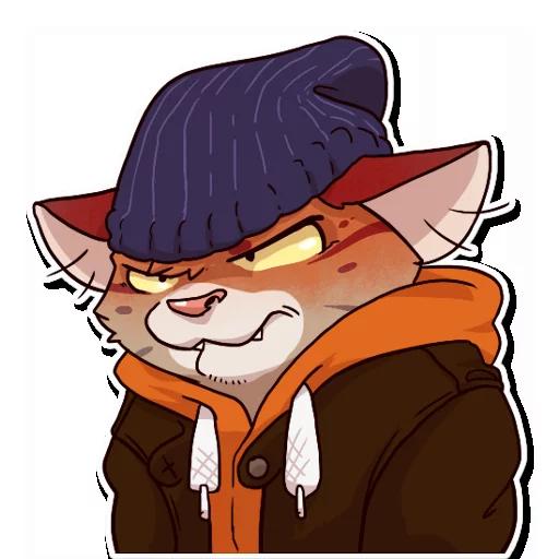 Jack Cat - Sticker 3