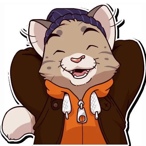 Jack Cat - Tray Sticker