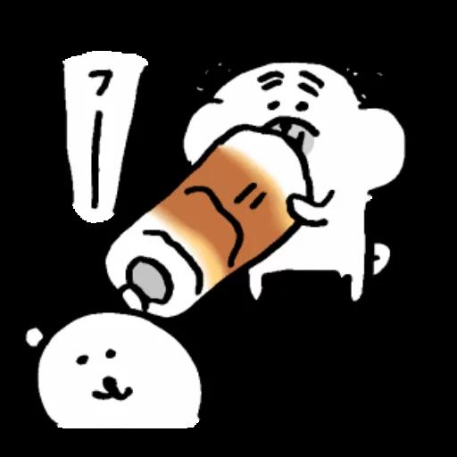 自分ツッコミくま_いぬ - Sticker 14