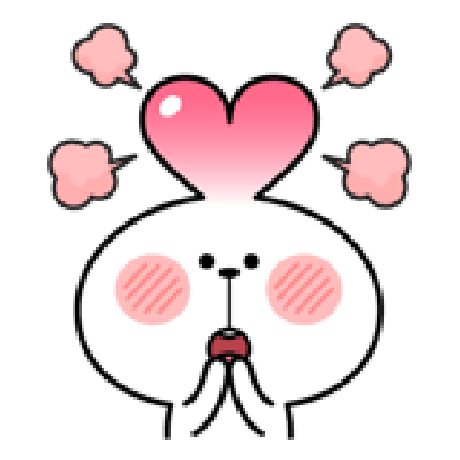 Spoiled Rabbit Love - Sticker 30