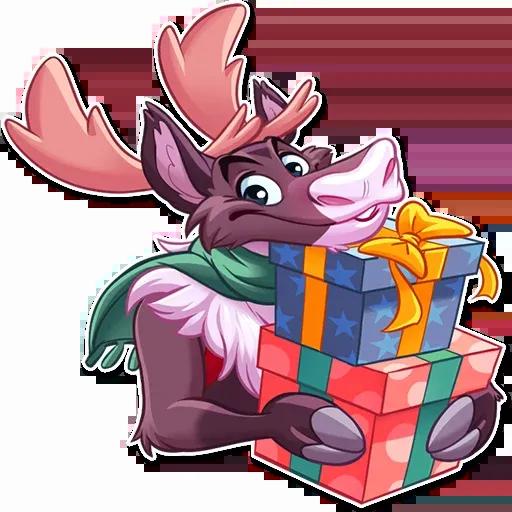 Reindeer Party - Sticker 21