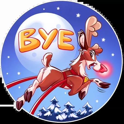 Reindeer Party - Sticker 23