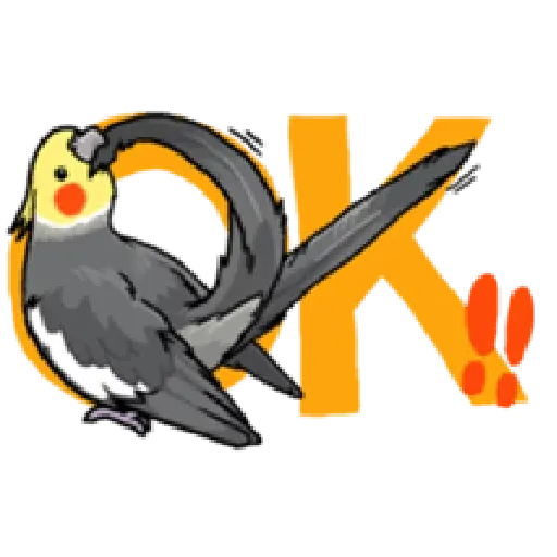 鸚鵡 - Sticker 1