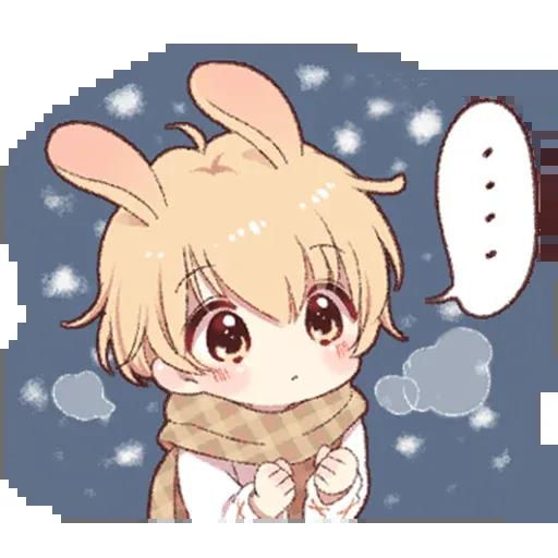 Bunny Boy 2 - Tray Sticker