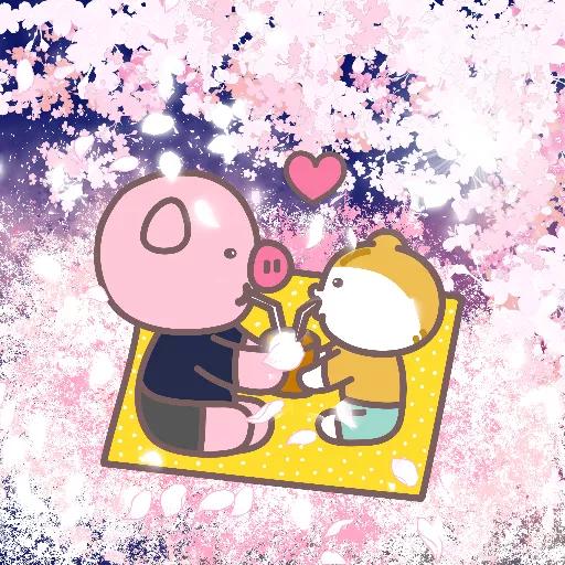 Meow家族與月巴豬仔 - Sticker 13