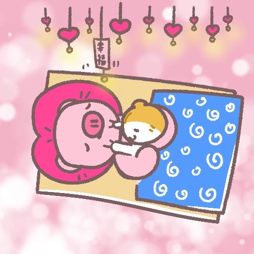 Meow家族與月巴豬仔 - Sticker 27