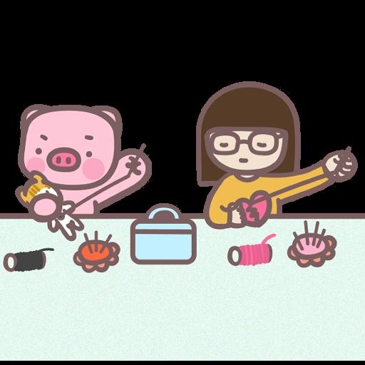Meow家族與月巴豬仔 - Sticker 20