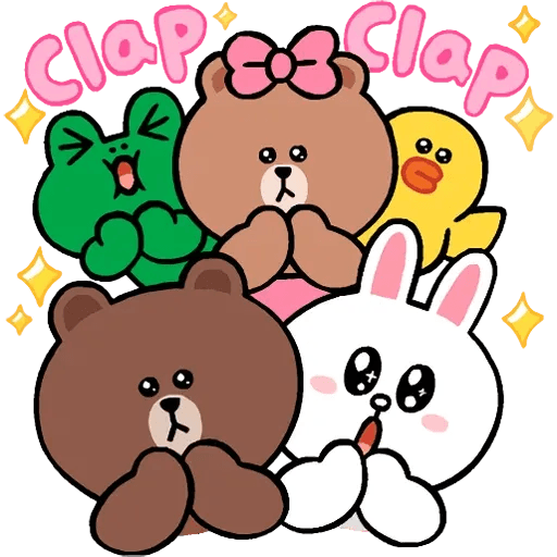 Line cute and soft - Tray Sticker