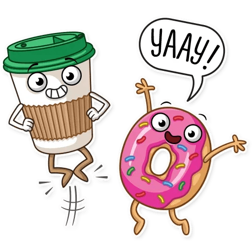 Donut and Coffe - Sticker 27