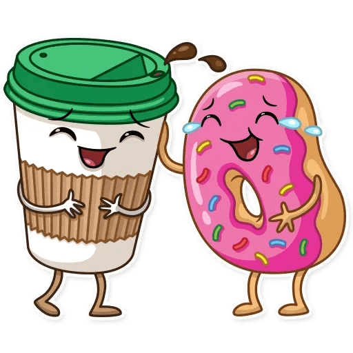 Donut and Coffe - Sticker 6