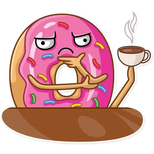 Donut and Coffe - Sticker 28