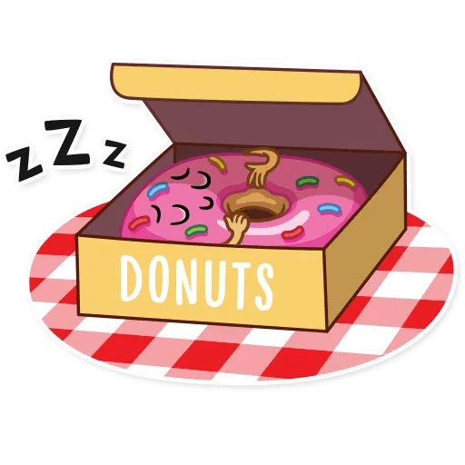 Donut and Coffe - Sticker 17