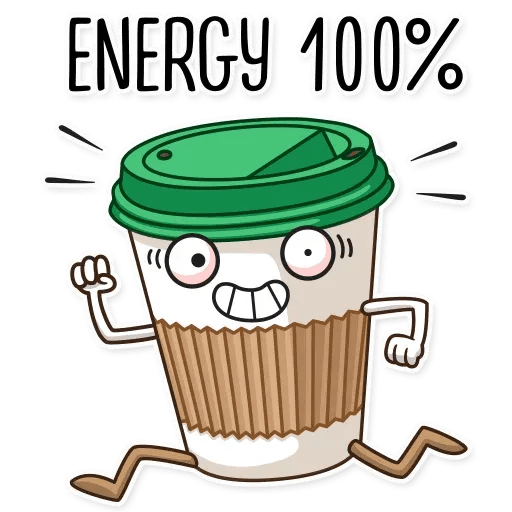 Donut and Coffe - Sticker 3