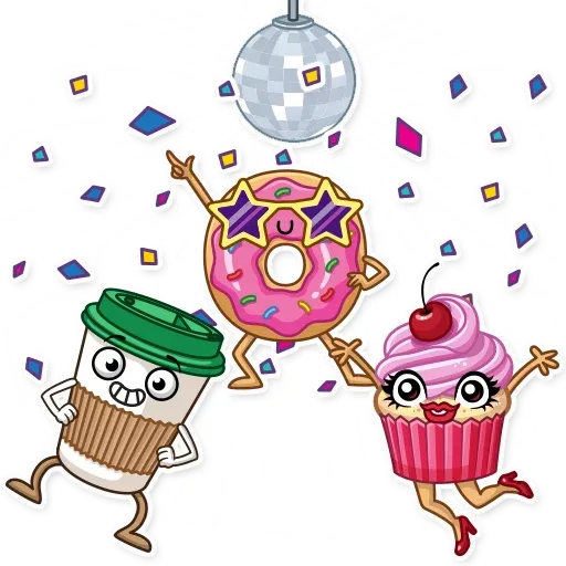 Donut and Coffe - Sticker 21