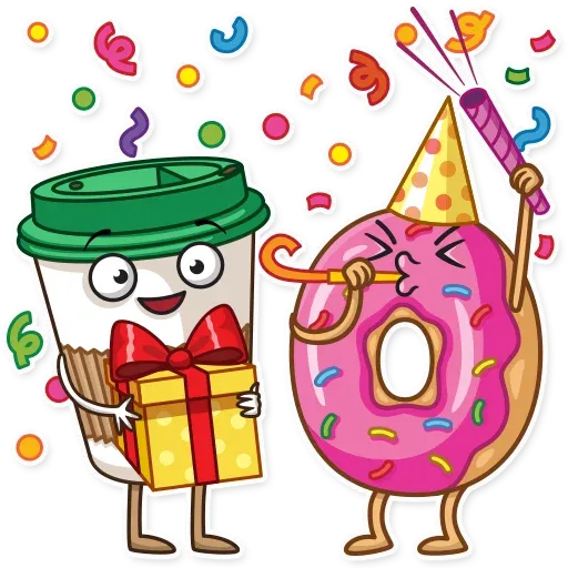 Donut and Coffe - Sticker 2