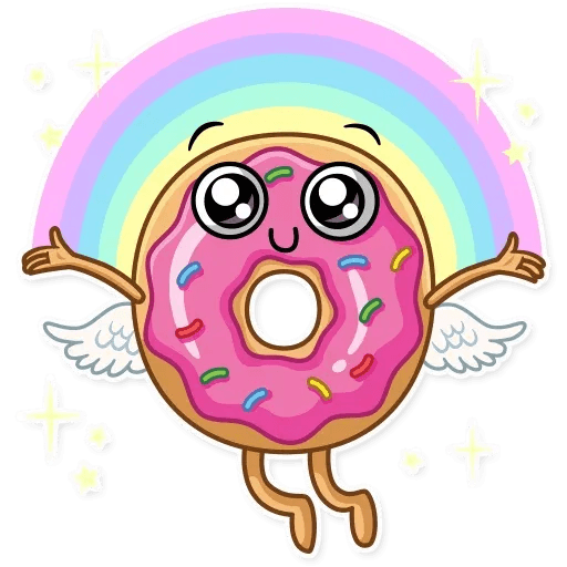 Donut and Coffe - Sticker 25