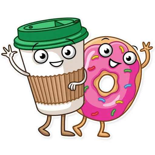 Donut and Coffe - Sticker 7