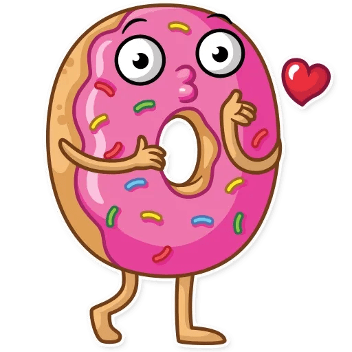 Donut and Coffe - Sticker 1