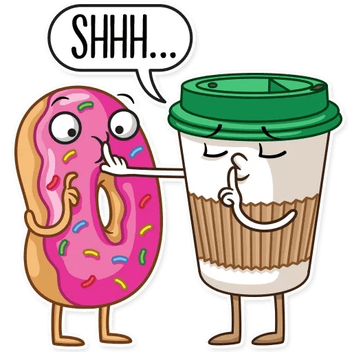 Donut and Coffe - Sticker 9