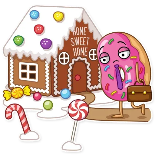 Donut and Coffe - Sticker 20
