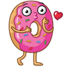 Donut and Coffe - Tray Sticker