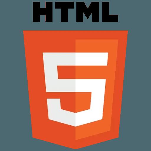 Web Technology Logos I - Tray Sticker
