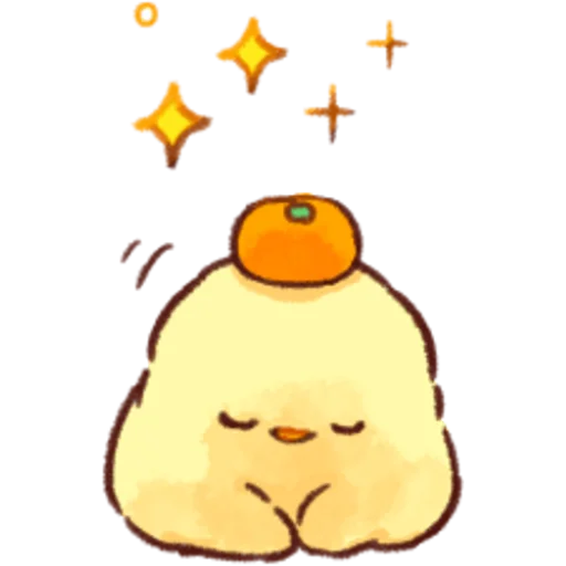 soft and cute chick 07 - Tray Sticker
